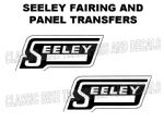Seeley Tank Transfers Decals 1968 Onwards Motorcycle Transfers D3040